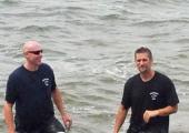 Pastor Jeff & Pastor Harley at baptism 2012