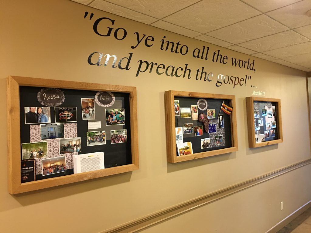 missions board at OPC