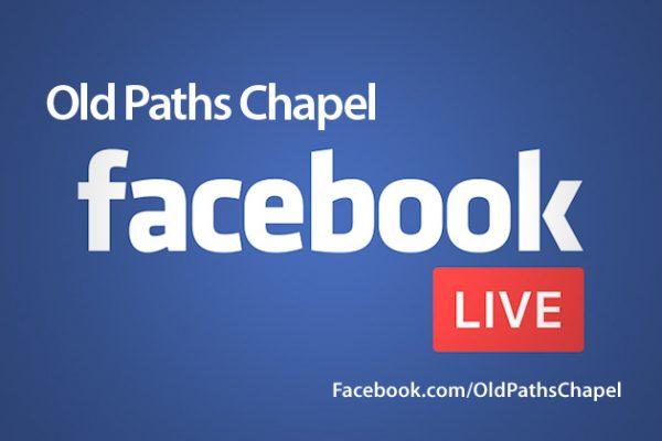 Facebook live Sunday service